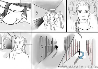 "Storyboard made for the movie ""Honest Lies"""