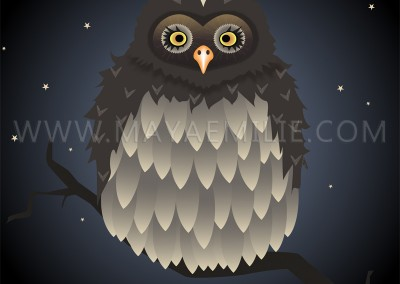 OWL. Poster illustration