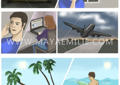Storyboard made for  a commercial.